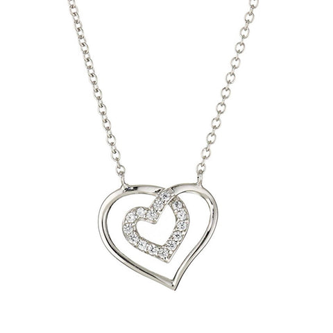 Swarovski Halo Heart Pendant Necklace
