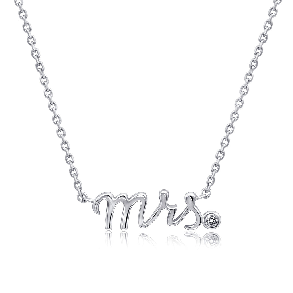 """Mrs."" Nameplate Necklace - GEMOUR"