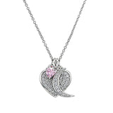 Swarovski 'I Love You to the Moon and Back' Sentiment Pendant Necklace - GEMOUR
