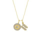 J'ADMIRE Horoscope Collection - Cubic Zirconia Double Pendant Necklace