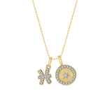 J'ADMIRE Horoscope Collection - Cubic Zirconia Double Pendant Necklace - GEMOUR