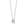 GEMOUR Rhodium Clad Sterling Silver Horoscope Zodiac Pendant Necklace - GEMOUR