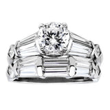 Statement Bridal Set of 2 Rings - GEMOUR