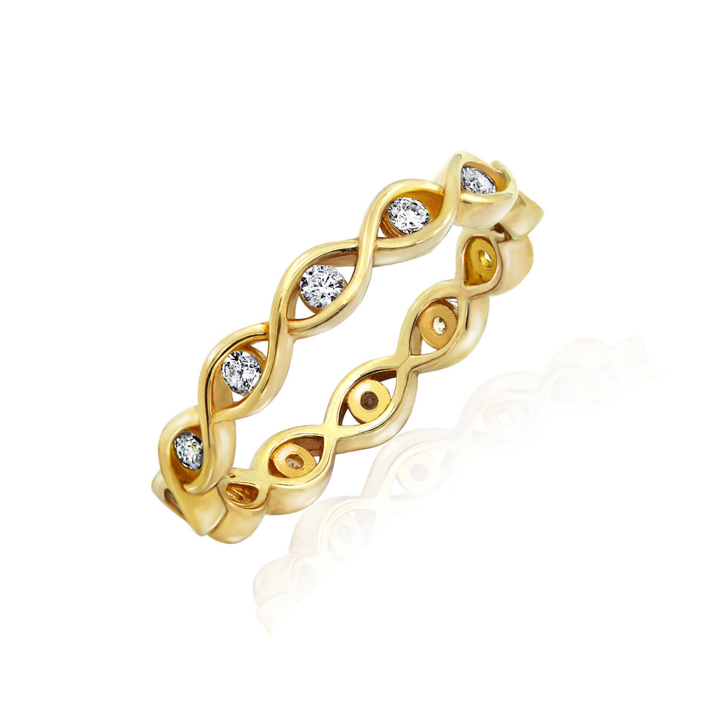 Kiera New York 'Ring Bar' Wavy Eternity Band Ring - GEMOUR