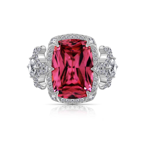 Kiera Couture Criss Cross Wide Pavé Ring
