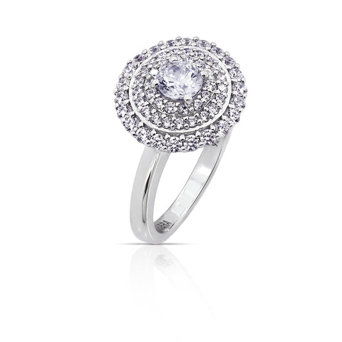Kiera Couture Open Bezel Ends Ring
