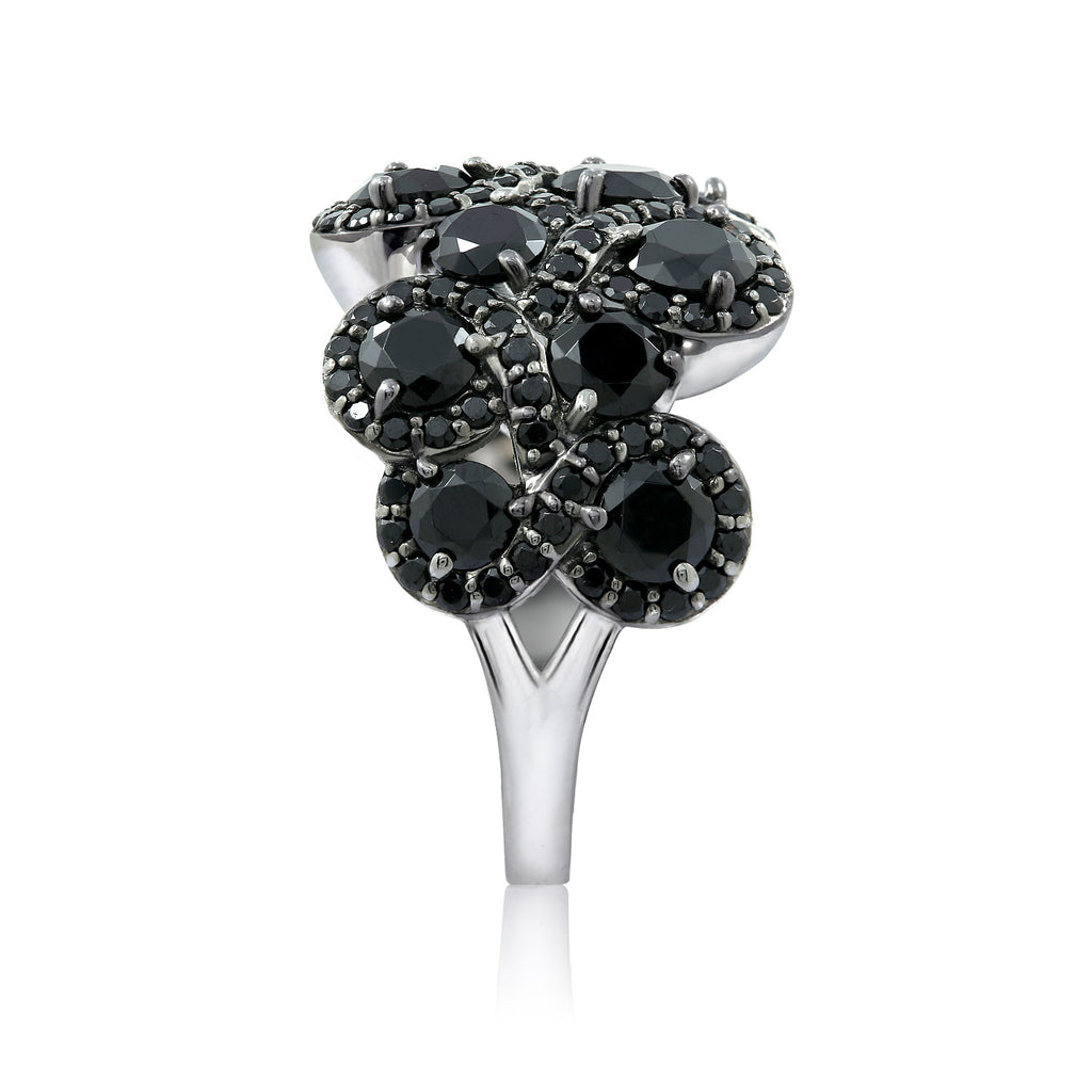 Black Spinel Sculpted Ring - GEMOUR