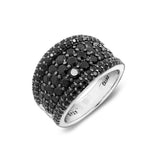 Black Spinel Dome Ring - GEMOUR