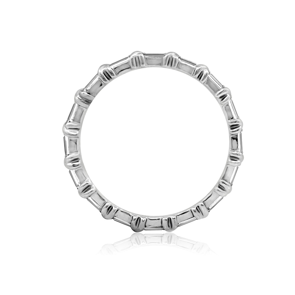 Kiera New York 'Ring Bar' Thin Baguette Band Ring - GEMOUR