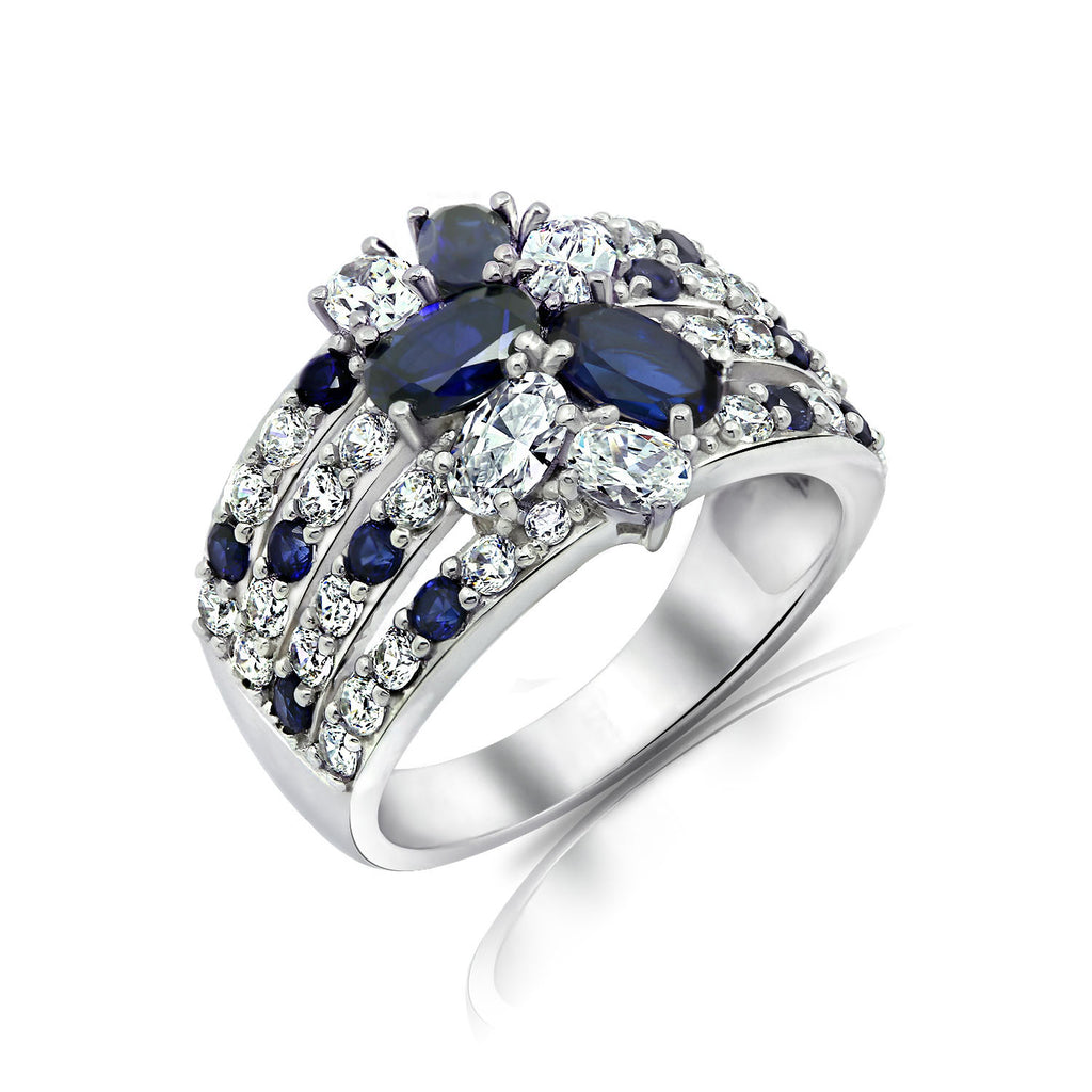carat diamond sapphire cocktail and ring marquise