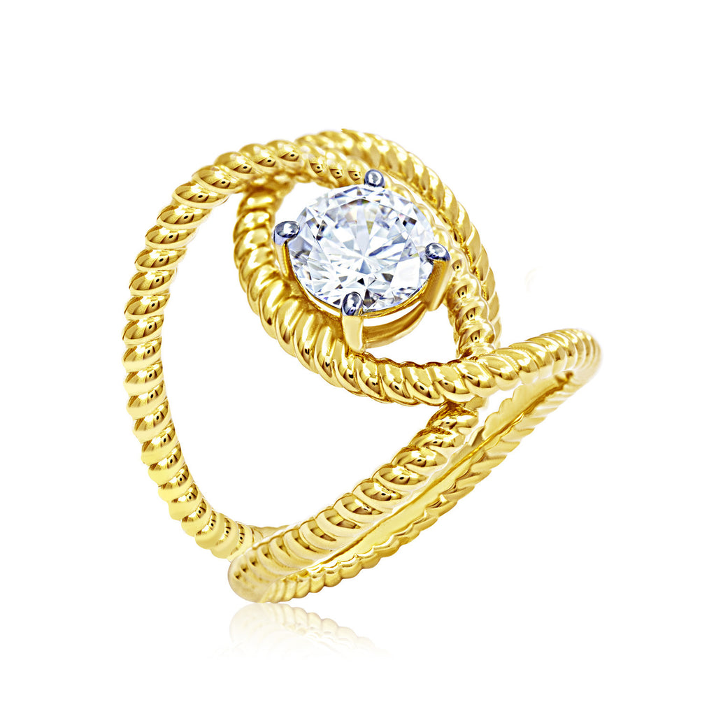 Kiera New York Lasso Loop Ring - GEMOUR