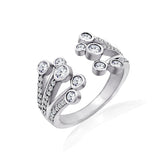 Kiera Couture Open Bezel Ends Ring - GEMOUR