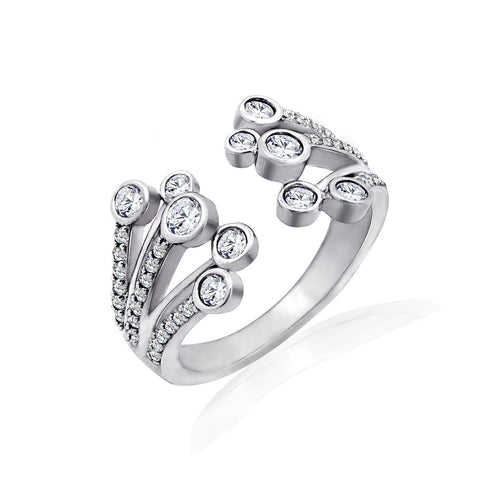 Kiera New York 'Ring Bar' Flower Band Ring