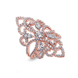 Kiera Couture Filigree Marquise Cut Cocktail Ring - GEMOUR