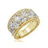 Kiera New York Rope Pear Cluster Band Ring - GEMOUR