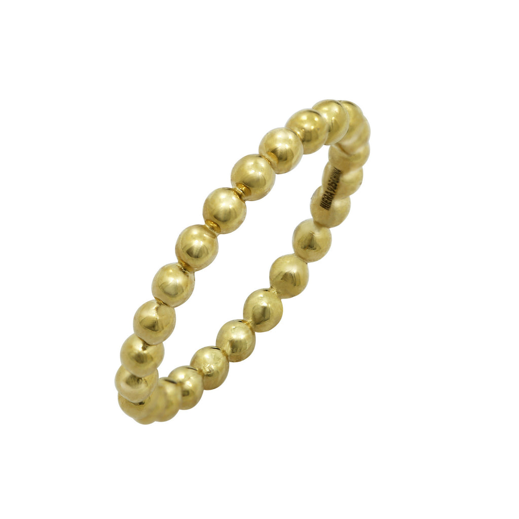 Kiera New York 'Ring Bar' GRANULATE BALL STACK RING - GEMOUR