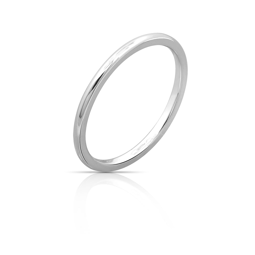 Kiera New York 'Ring Bar' Sterling silver simple band ring - GEMOUR