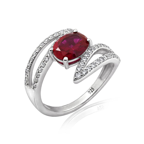 Kiera Couture SIMULATED COLOR GEMSTONE RING