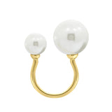 GLOW SOCIETY Pearl Collection - Asymmetrical Pearl Open Ring (Adjustable) - GEMOUR