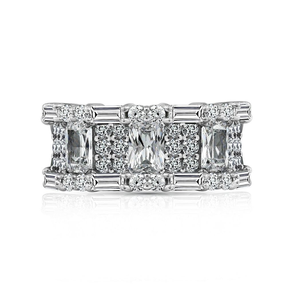 Kiera Couture CZ ALTERNATING CUT BAND RING - GEMOUR