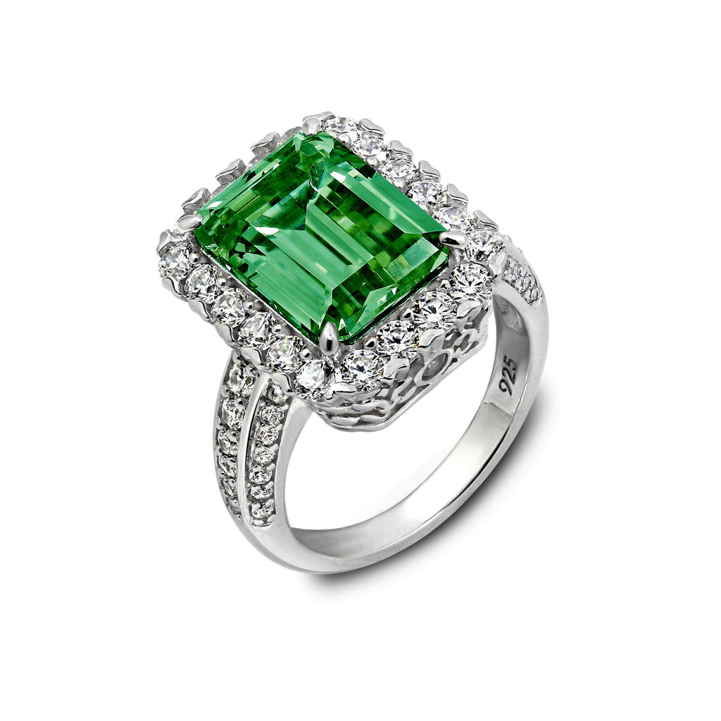 acrylic picturalist emerald shape pear gem facemount the precious green