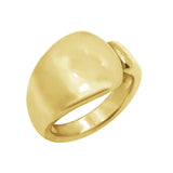GEMOUR Vermeil Clad Sterling Silver Tapered Open Signet Ring - GEMOUR