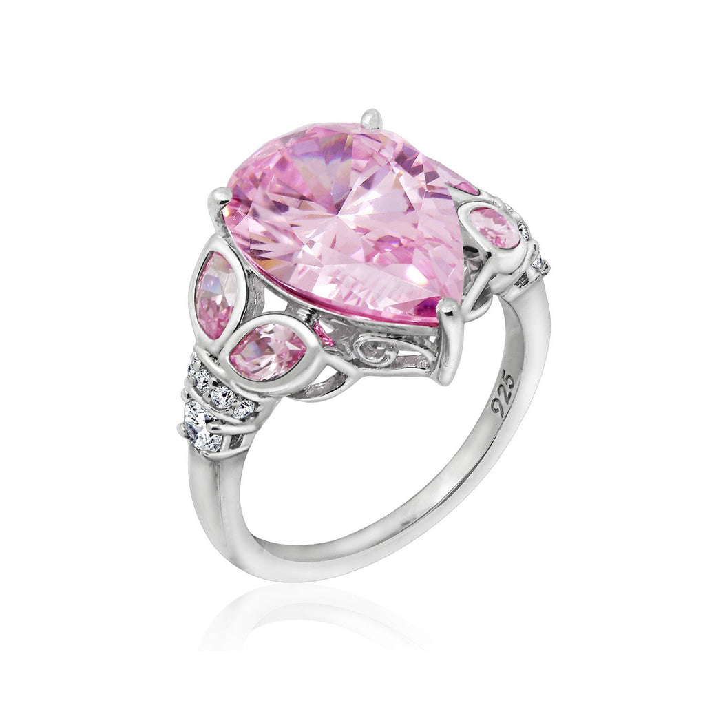 Couture Pink Pear Valentine's Ring - GEMOUR