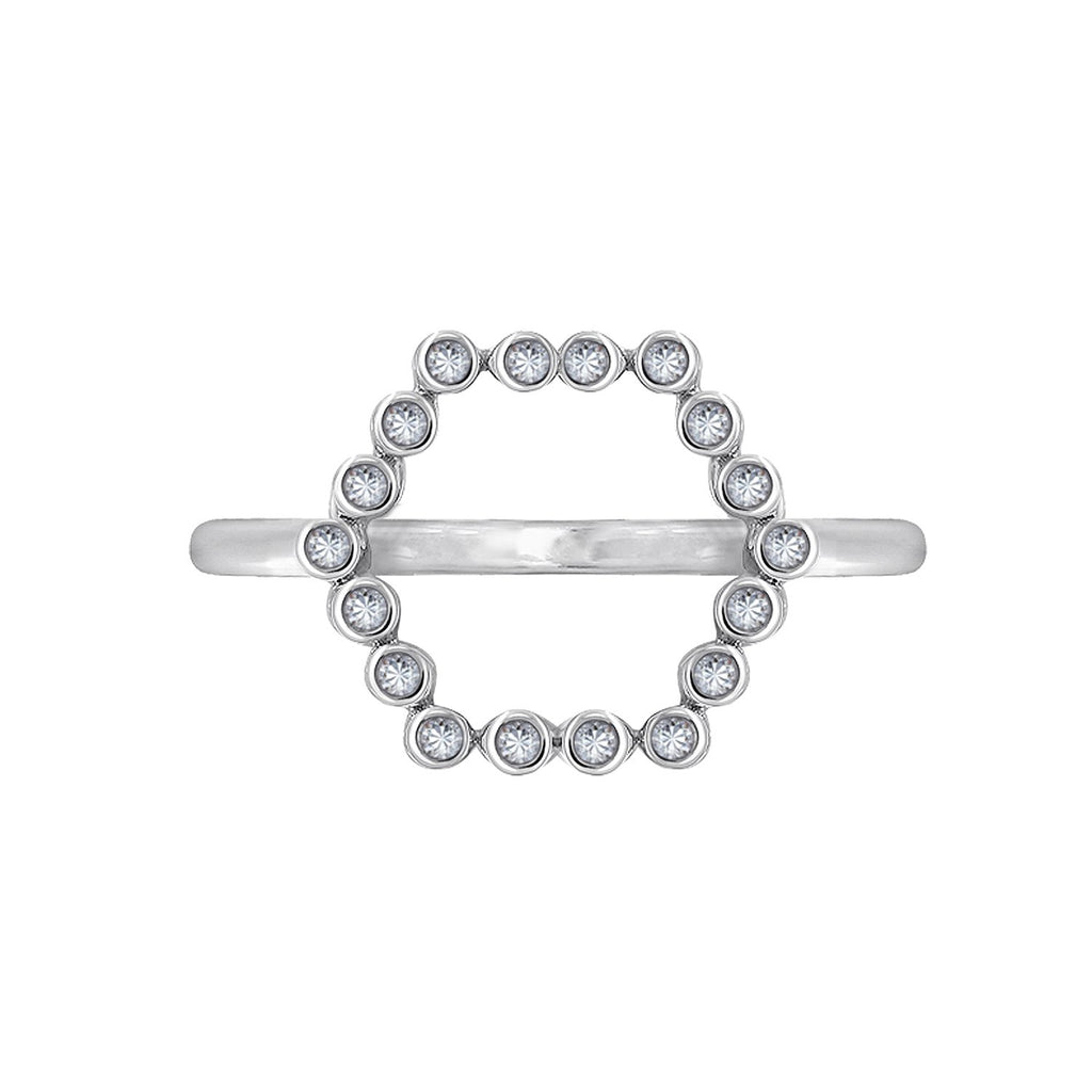 Kiera New York Hexagon Geometric Ring - GEMOUR