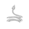 KIERA NEW YORK Sterling Silver Cubic Zirconia Coiled Snake Ring - GEMOUR