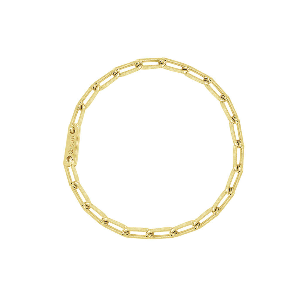 J'ADMIRE-Link-Collection-Yellow-Gold-Clad-Sterling-Silver-Flat-Cable-Chain-Ring