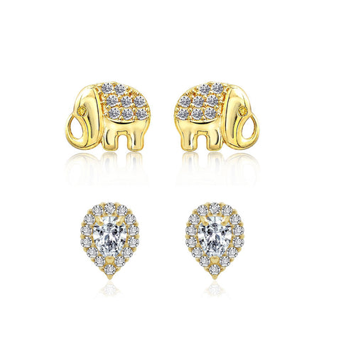GLOW SOCIETY Sculpture Collection - Hammered Diamond Shaped Stud Earrings