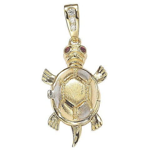 GEMOUR Gold Plated Sterling Silver Cubic Zirconia Family and Love Pendant