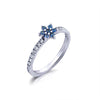 Kiera New York 'Ring Bar' Flower Band Ring - GEMOUR