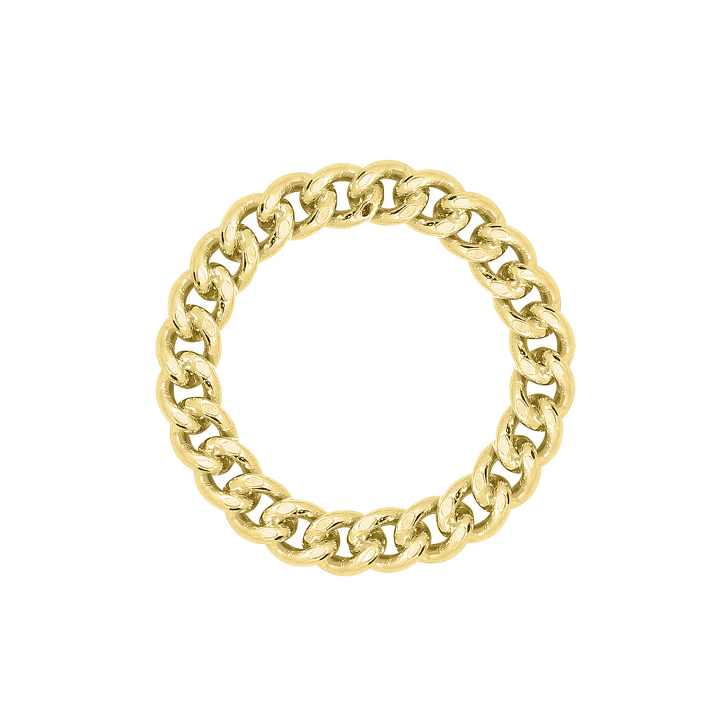 J'ADMIRE-Link-Collection-Yellow-Gold-Clad-Sterling-Silver-Curb-Chain-Ring