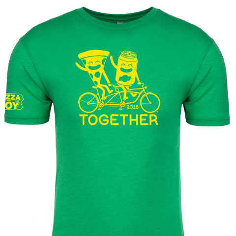 Together Tee - Tandem Bike - ADULT Kelly Green
