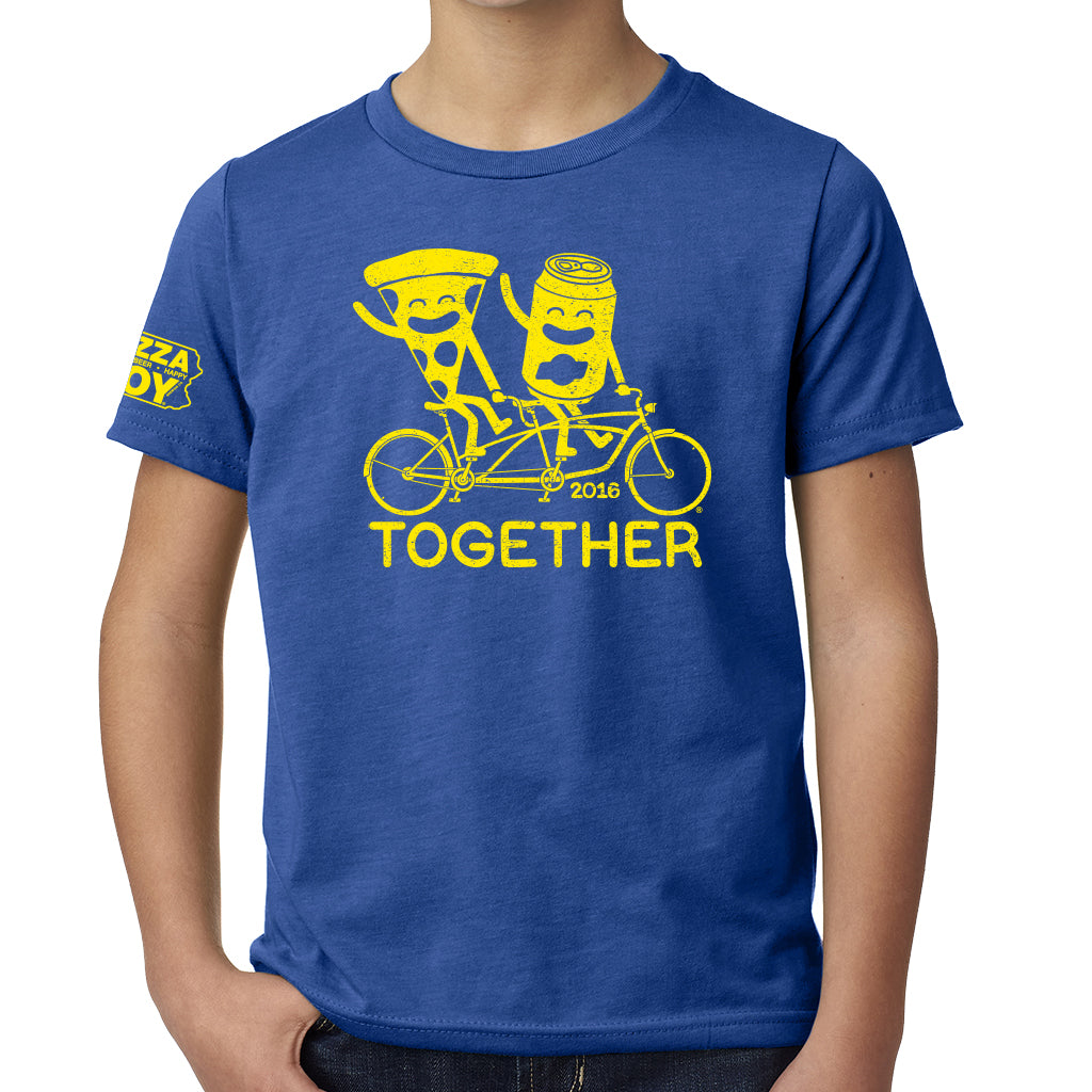Together Tee - Tandem Bike - YOUTH Royal