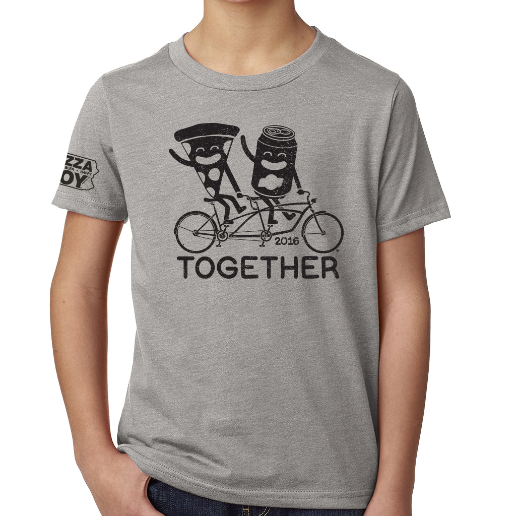 Together Tee - Tandem Bike - YOUTH Grey