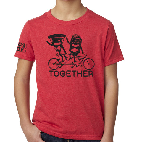 Together Tee - Tandem Bike - YOUTH Red