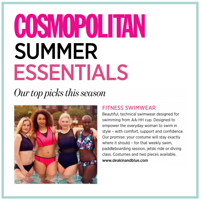 Deakin and Blue Cosmopolitan's Top Picks This Season - Fitness Swimwear