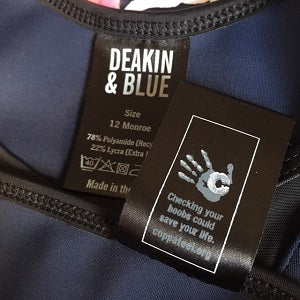 Deakin and Blue Breast Cancer Awareness Month CoppaFeel!