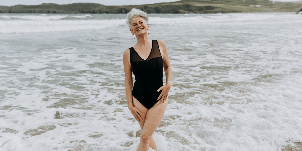 Deakin and Blue - The Bluetits - Body Stories - Essential Swimsuit - Fran - Sexual Abuse Survivor - Sustainable Swimwear