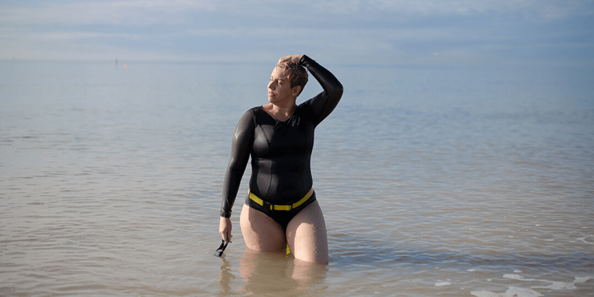 Deakin and Blue - Body Stories - Deb Galende - Body Image - Body Confidence - Sea Swimming