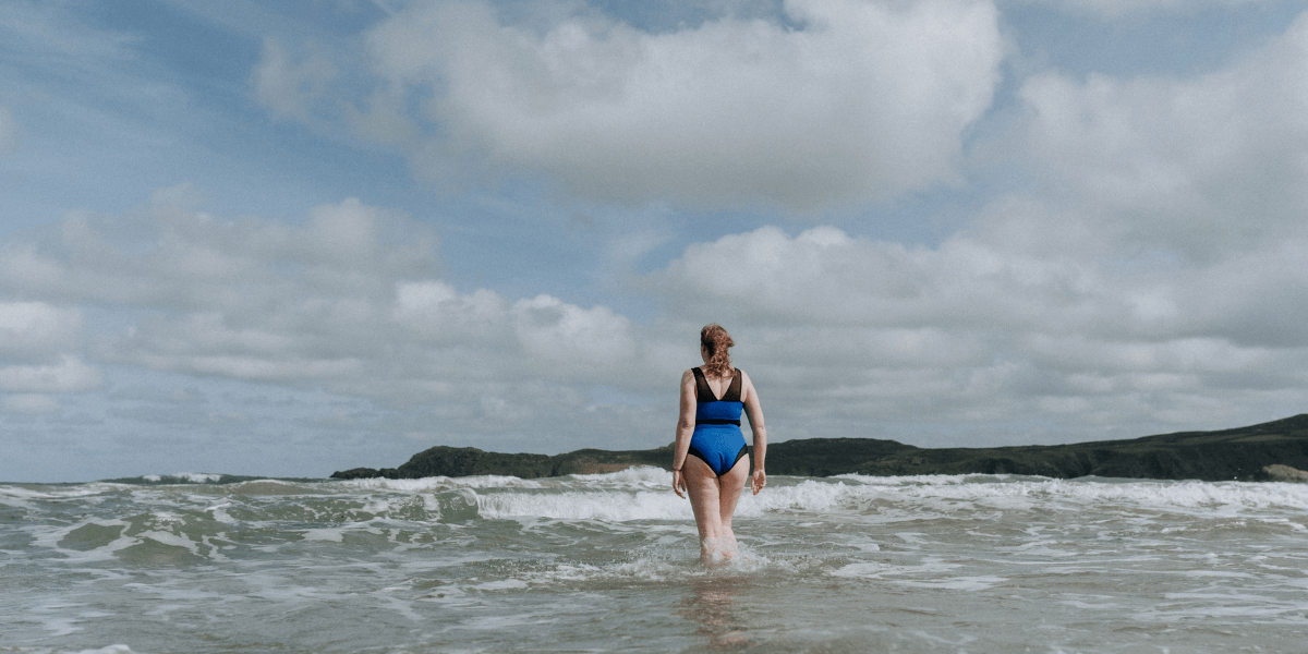 Deakin and Blue - The Bluetits - Body Stories - Kelly - Sustainable Swimwear - Body Image & Body Confidence - Wild Swimming