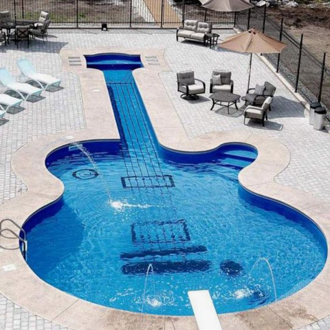 Deakin and Blue Swimming Pool Guitar