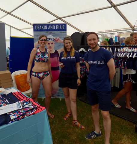 Deakin and Blue Team Henley Swim Fitness Swimwear