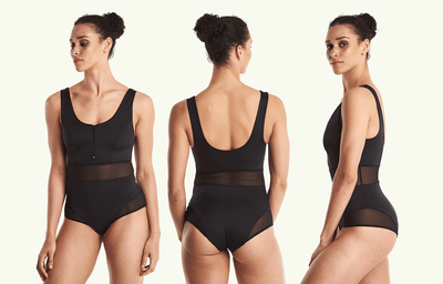 Round Neck Swimsuit Black - Hepburn