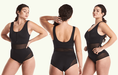 Round Neck Swimsuit Black - Monroe