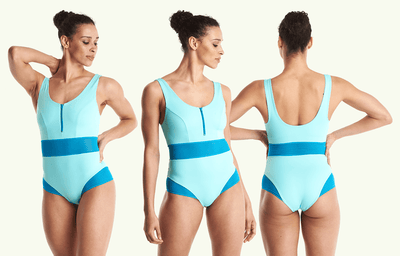 Round Neck Swimsuit Mint Blue - Hepburn