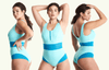 Round Neck Swimsuit Mint Blue - Monroe