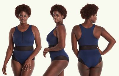 High Neck Swimsuit Navy - Hendricks